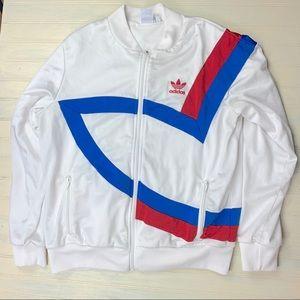 Adidas Logo 90s Windbreaker Jacket Red White Blue